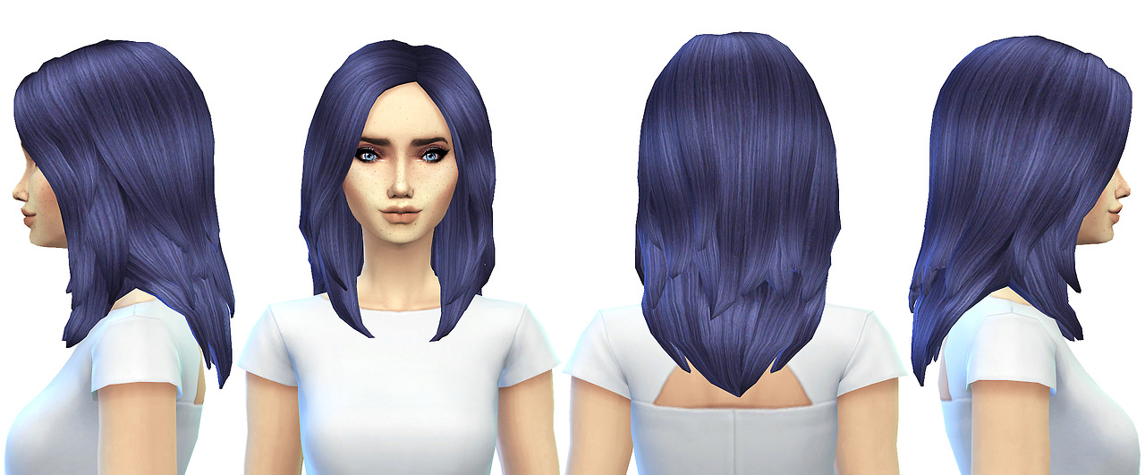 Retexture of jsboutique's custom hair mesh edit by missParaply