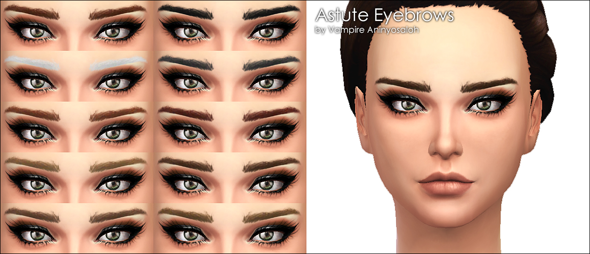 Astute Eyebrows -non default- by Vampire_aninyosaloh