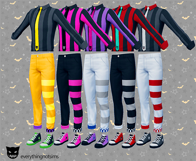 Shirts, Pants and Shoes Recolors by EverythingNotSims