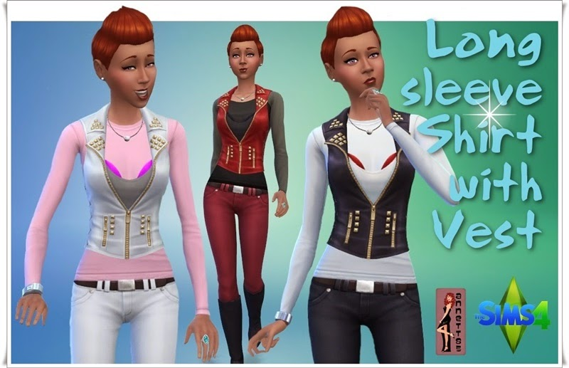 Long Sleeve Shirt with Vest by Annett85