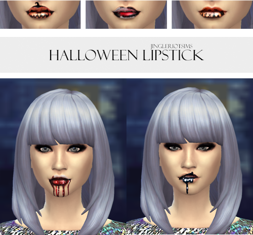 Halloween Lipsticks by Jingleriotsims