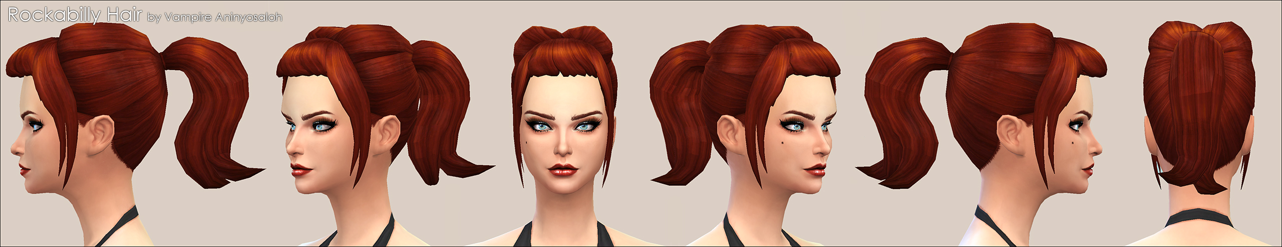 Rockabilly Hair -NEW MESH- by Vampire_aninyosaloh
