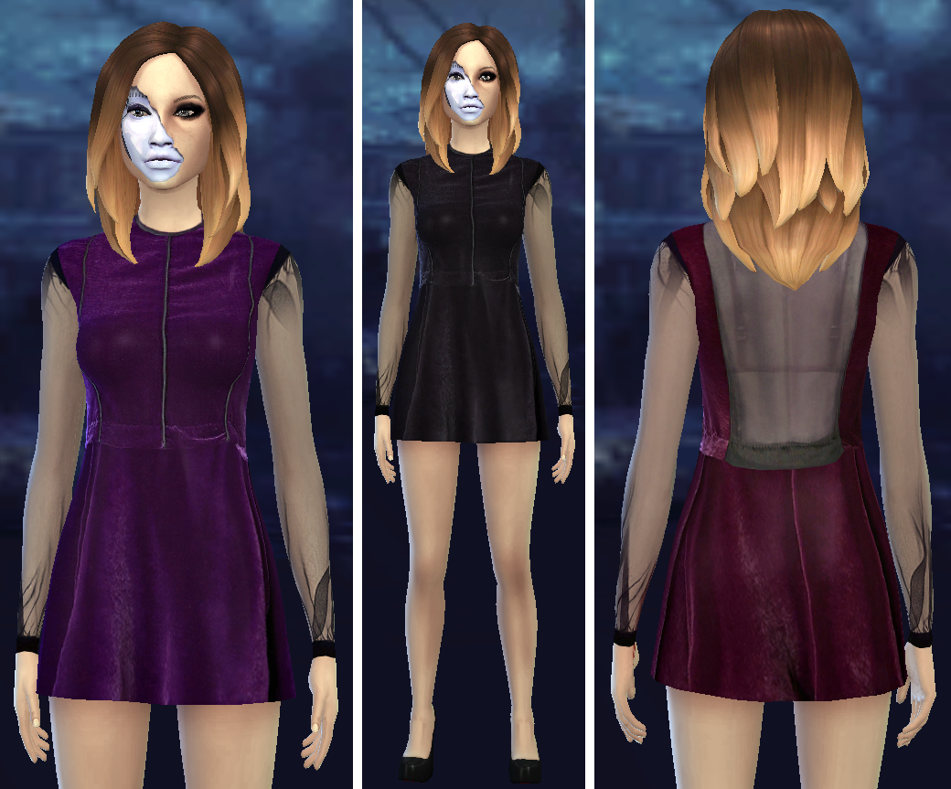 Another friggin velvet dress by Jingleriotsims
