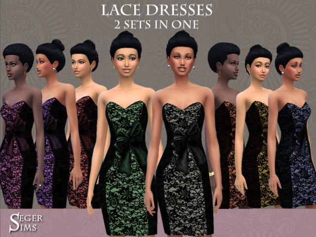 8 Lace Dresses by SegerSims