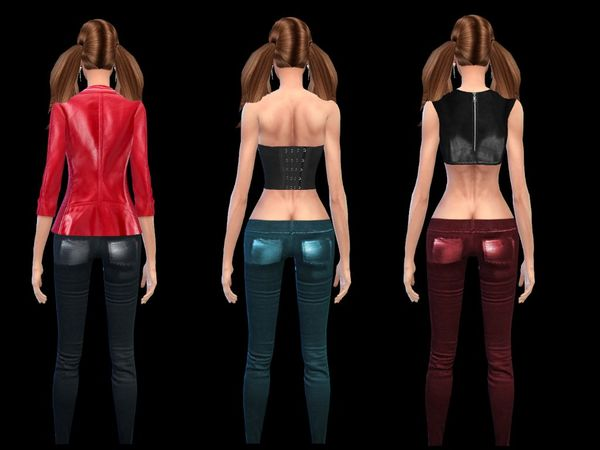 Rocker Leather Leggins-Collection by simsoertchen