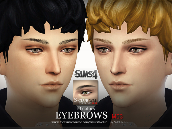 S-Club LL thesims4 Eyebrows M03