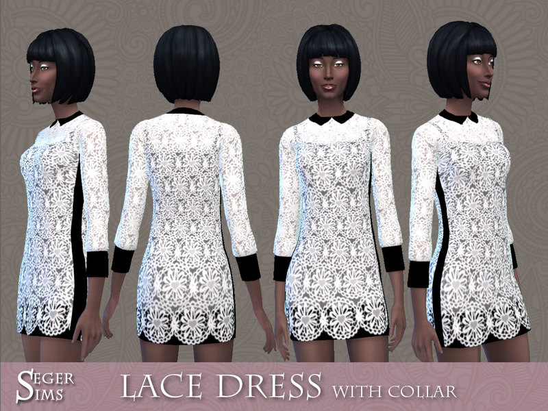 Lace Dress with Collar by SegerSims