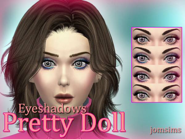pretty doll eyes + eyeliner + eyelashes + eyeshadows Pu by jomsims