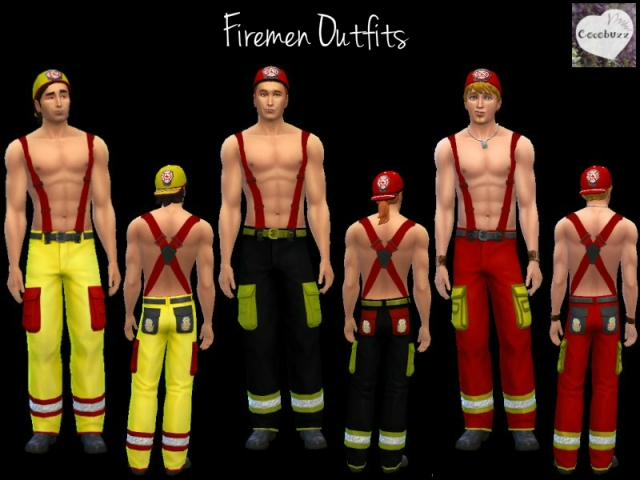 Firemen Outfit - Pants and Helmet by Cocobuzz