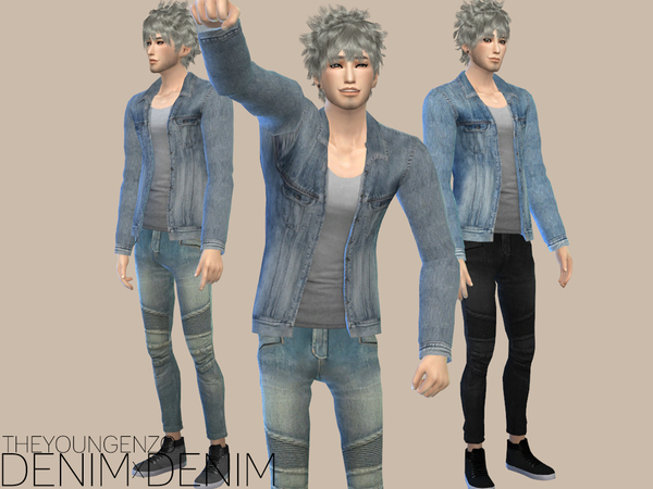 DENIMxDENIM SET by theyoungenzo