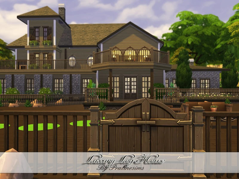 Luxury Log House by Pralinesims