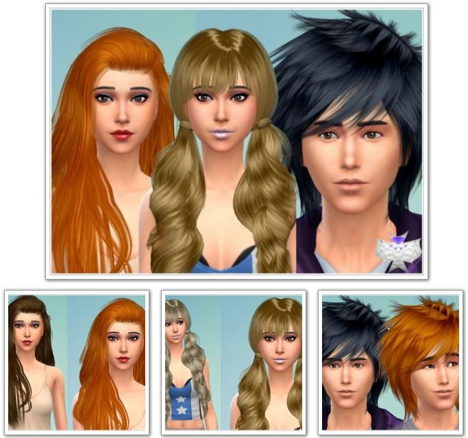 3 Converted Raonjena Hairs at David Sims