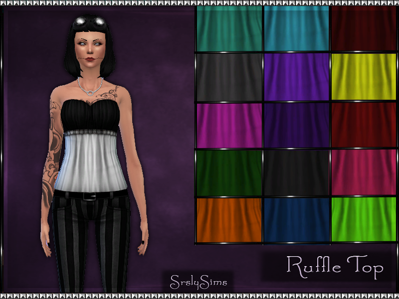 Ruffle Tops for Females by Srslysims