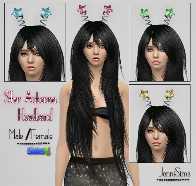 Star Antenna Headband Male /Female by Jennisims