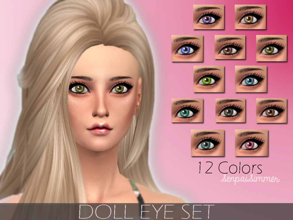 DOLL EYE SET by SenpaiSimmer