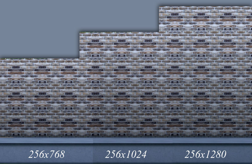 Mixed Brick Wall Set - 8 Walls by mustluvcatz