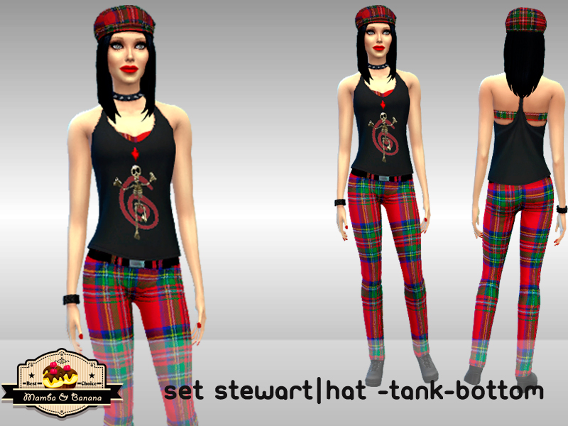 SET Stewart (hat, tank and pants) by mamba_black