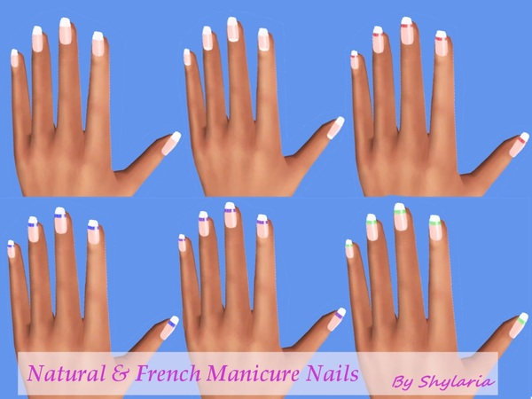 Natural and French Manicure Nails by Shylaria
