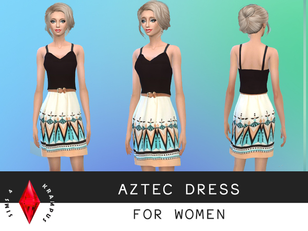 Female Aztec Dress by SIms4Krampus