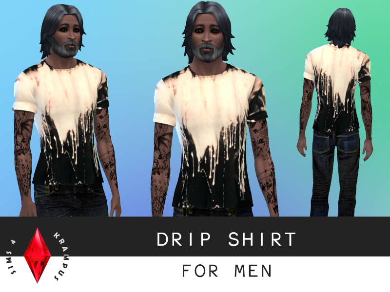 Drip Shirt for Men by SIms4Krampus