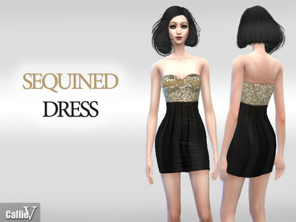 Gold and Black Sequined Dress by Callie V