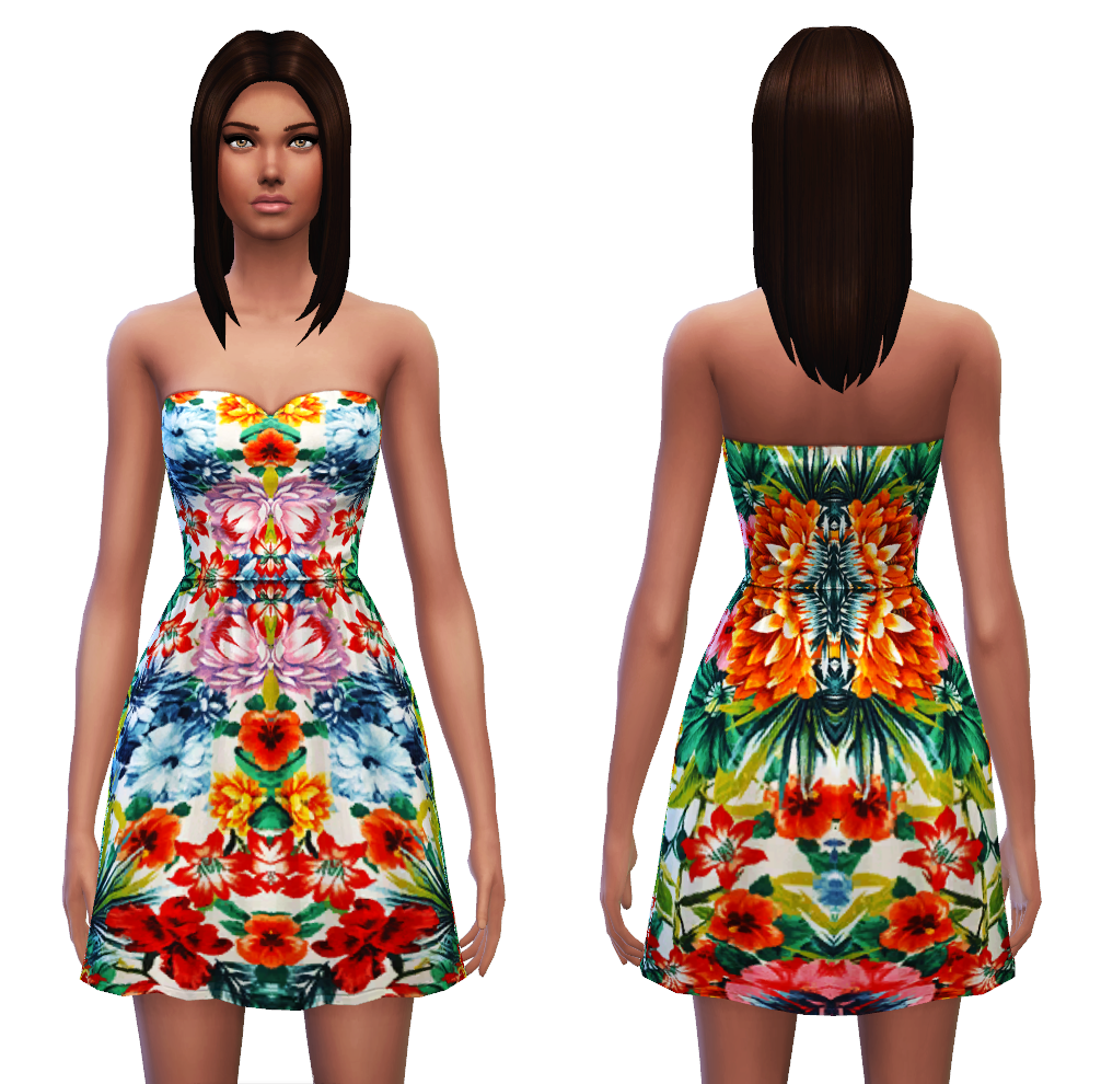 Strapless dress 7 designs by Sim4ny