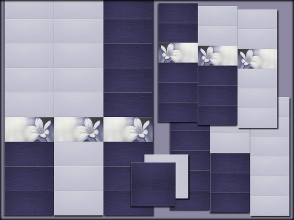 Tile for wall and floor Violet dream by Hanagatami