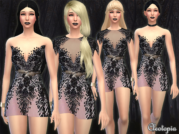 Set7- Bird Of The Night Dress by Cleotopia