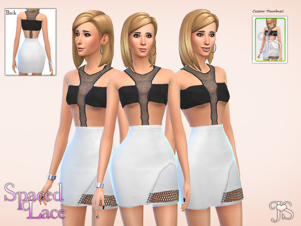 Spaced Lace Dress by JavaSims