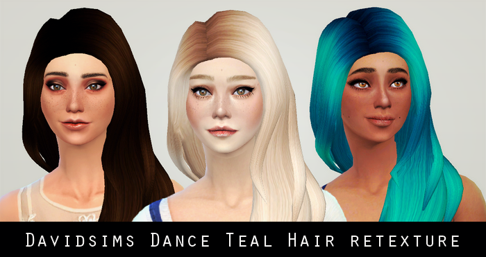 Davidsims Dance Teal Hair Retextured by LIAHXSIMBLR