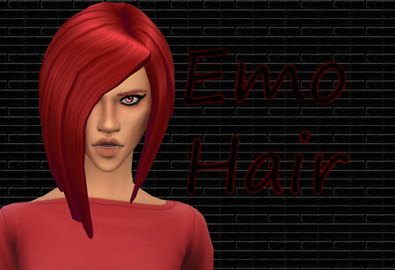 CustSimsContent Emo Hair for Females