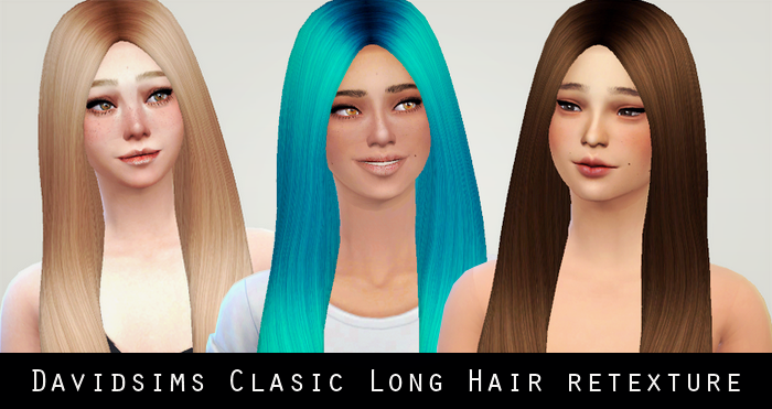 David Sims Classic Long Hair Retexture by Liahxsimblr