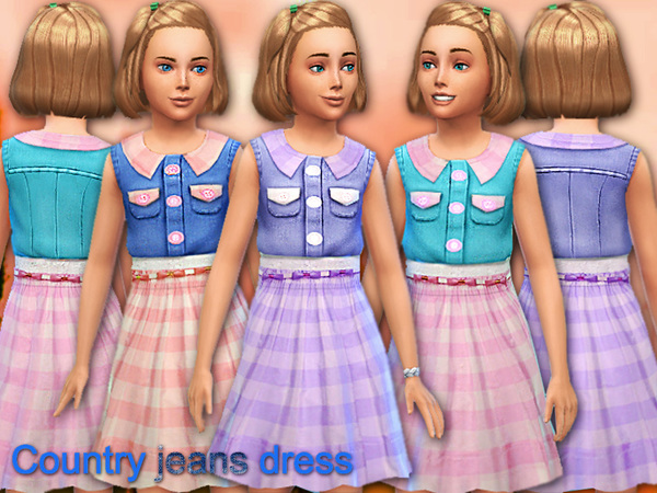 Country jeans dress by Pinkzombiecupcakes