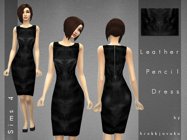 Leather Pencil Dress by hrekkjavaka