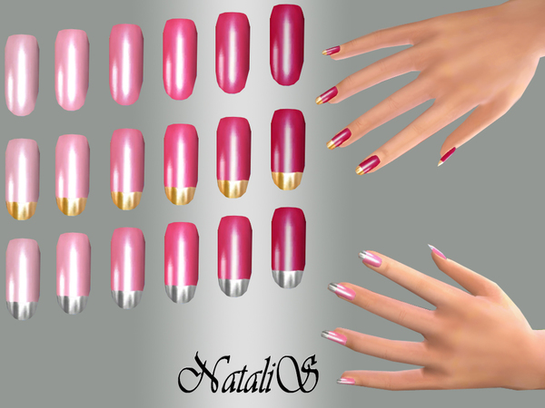 NataliS_TS4 Long nails Pink set FT-FE