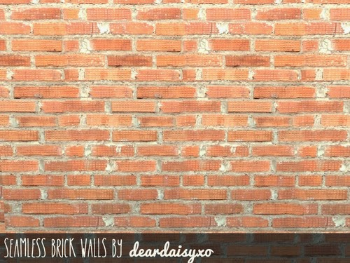 Seamless Brick Walls by DearDaisySims