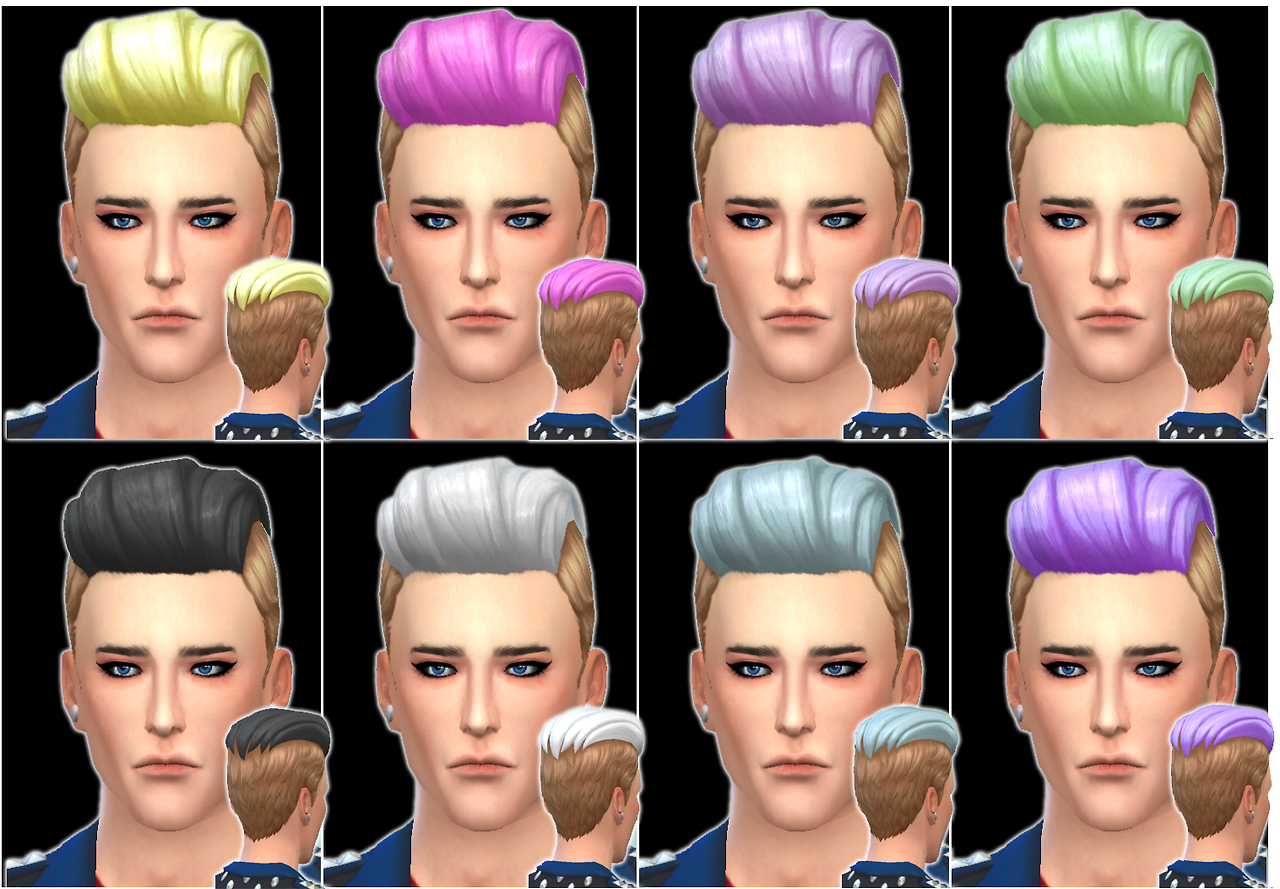 8 Pastel Hair Recolors by Leithdrew