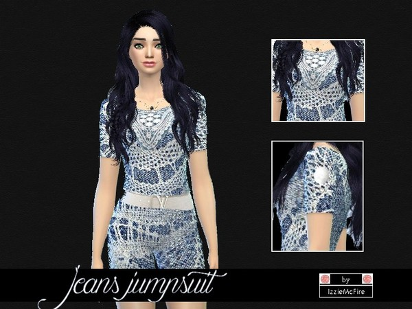 Jeans jumpsuit short by IzzieMcFire