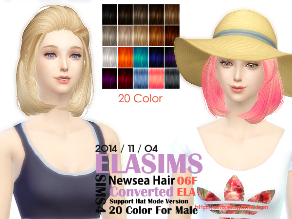 Newsea Hair Conversion 06F by Elasims