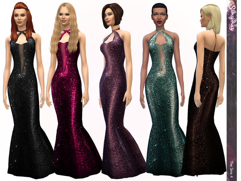 Sheer Glamour Gown by Simsimay