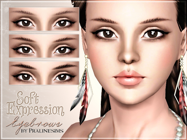 Soft Expression Eyebrows by Pralinesims