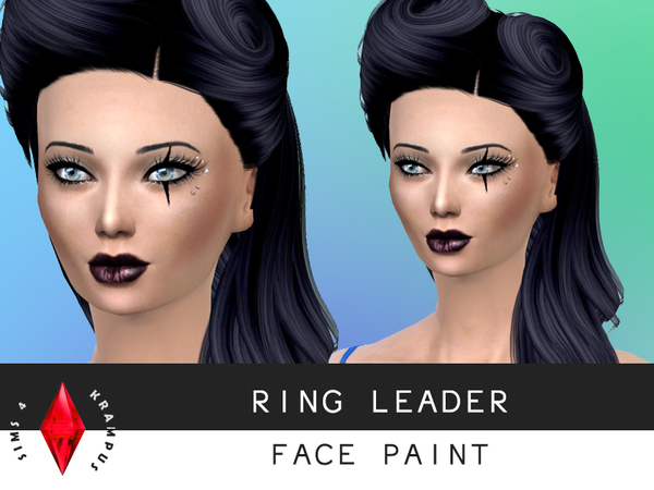 Ring Leader Face Paint by SIms4Krampus