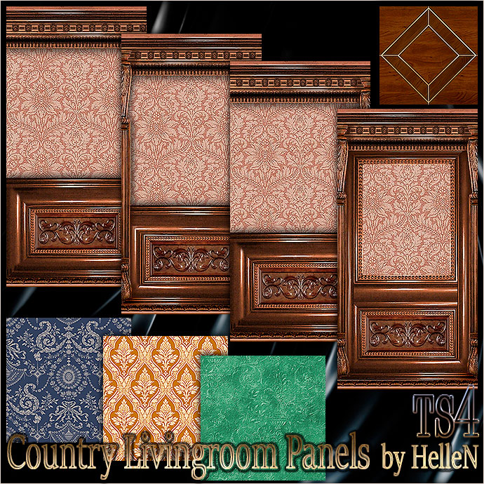 Country livingroom panels by HelleN