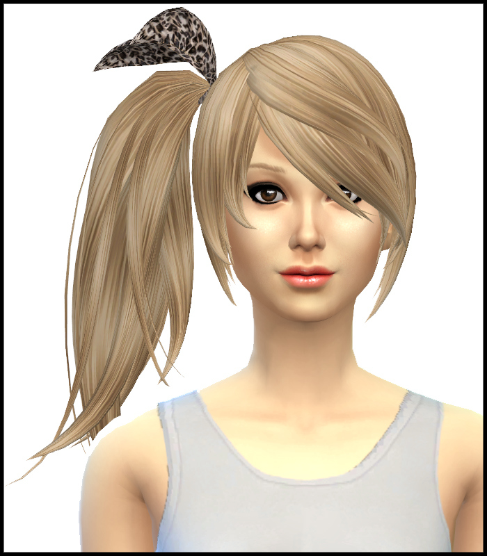 Kijiko Side Ponytail Hair Retexture at Simista