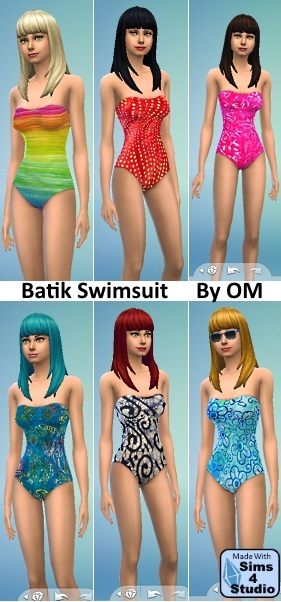 Batik Swimsuits by OM