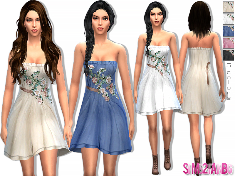16 - Designer floral dress by sims2fanbg