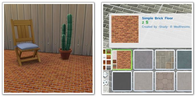 Simple Brick Floor 10 Colors by Shady