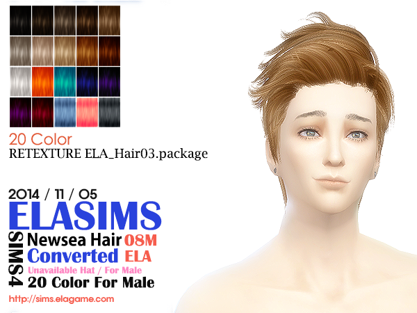 Newsea Hair Conversion 08M by Elasims