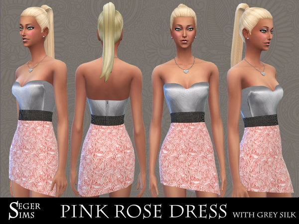 Rose Dress with grey silk by SegerSims