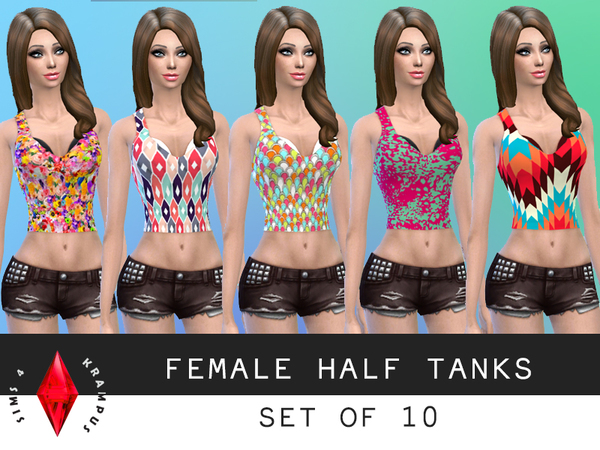 Set of 10 Half Tanks by SIms4Krampus